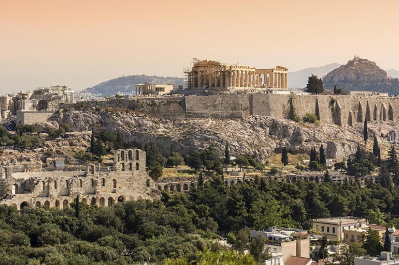 vue acropole d'Athènes attique Grèce