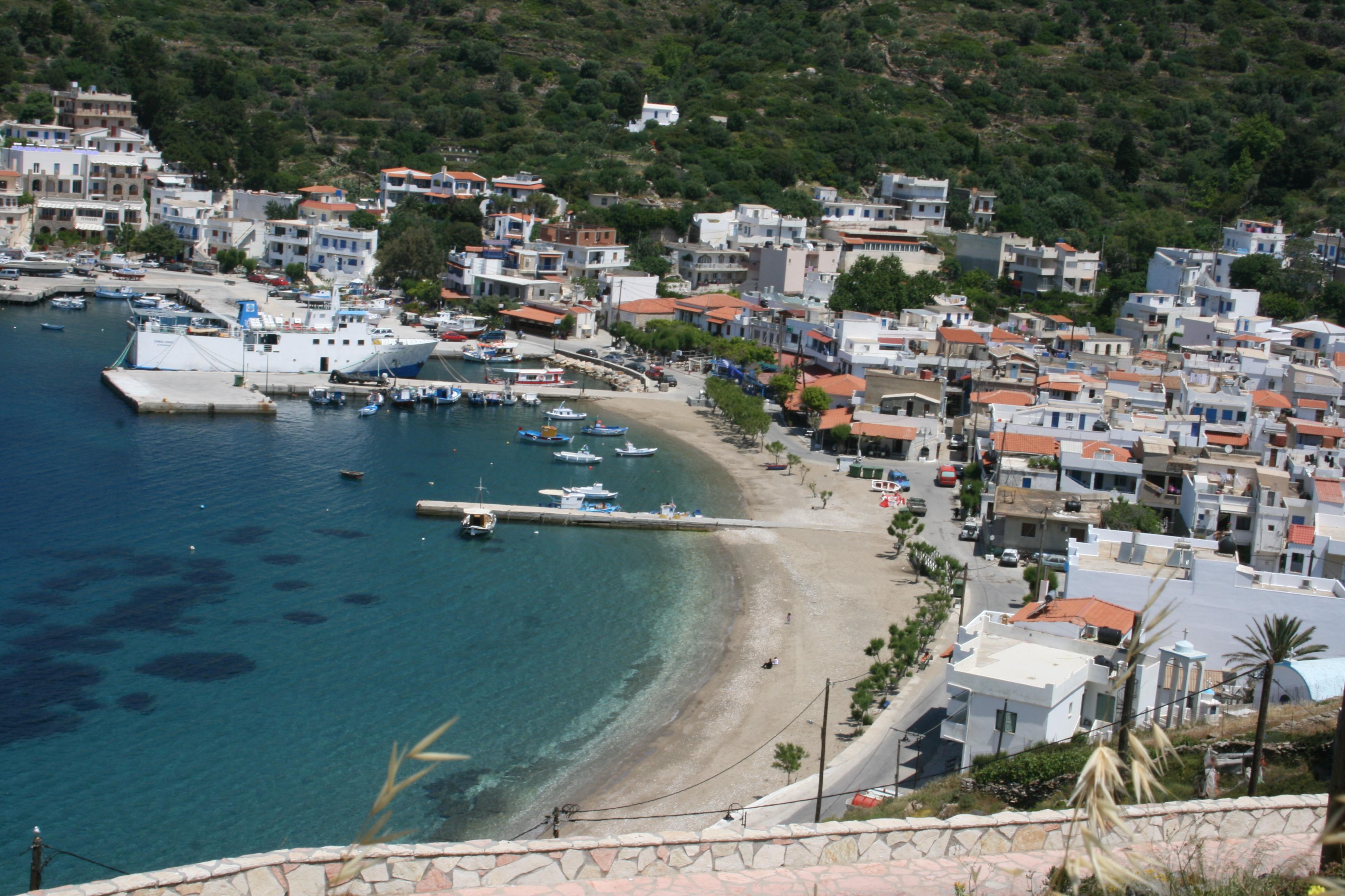 port de fourni archipel de fourni grece