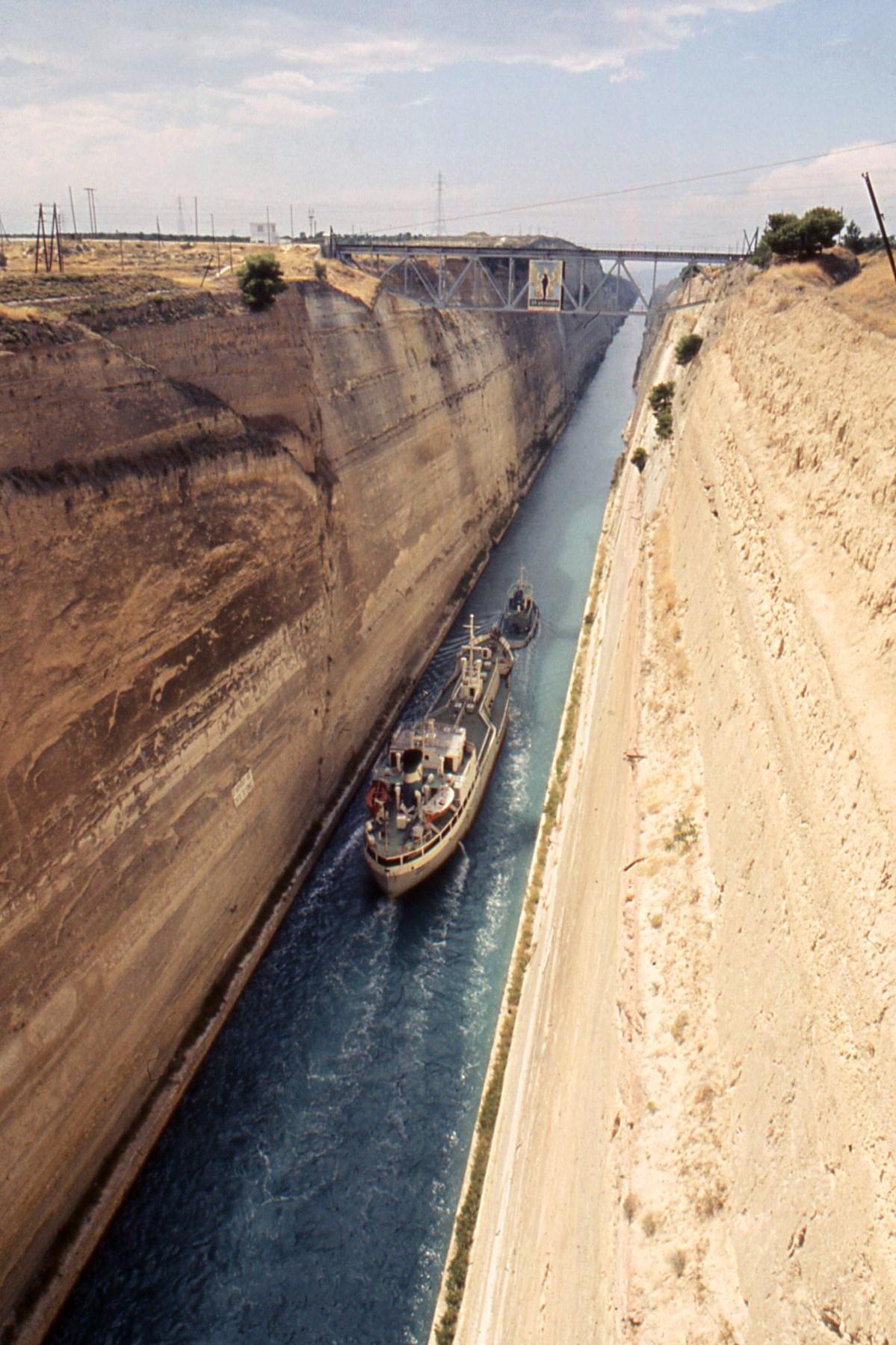 canal de corinthe arolide grece