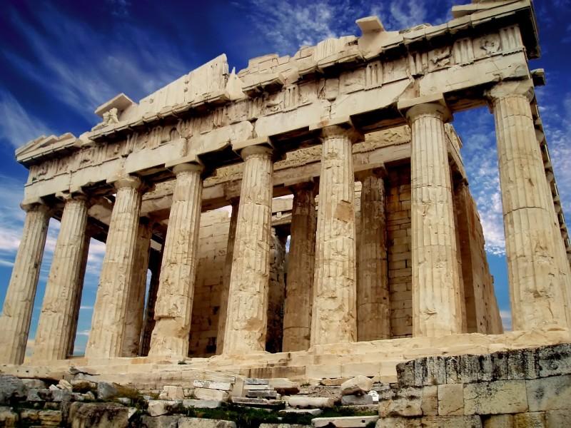 photo de l'acropole à Athènes