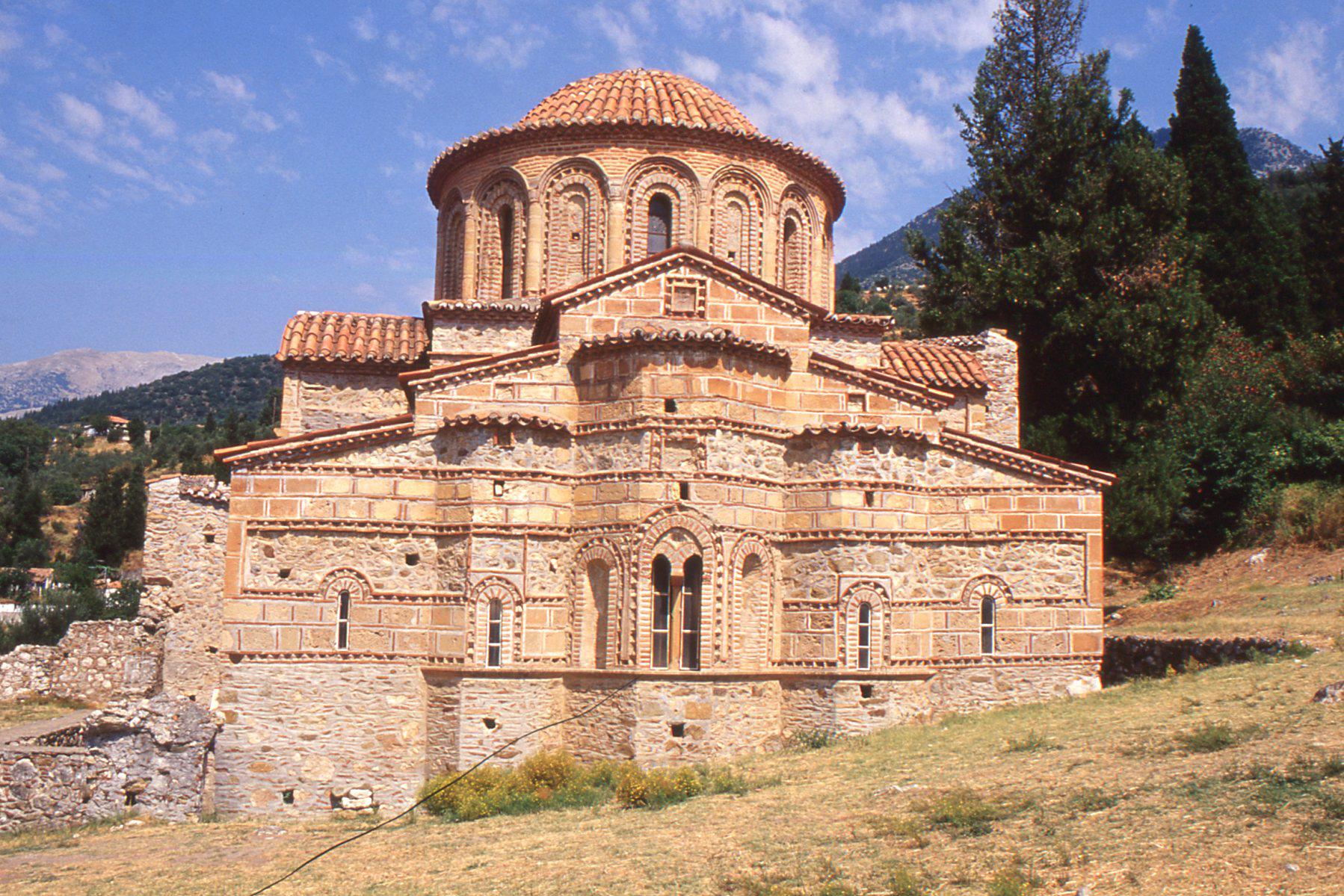 vue eglise byzantine mystra peloponnèse Grece