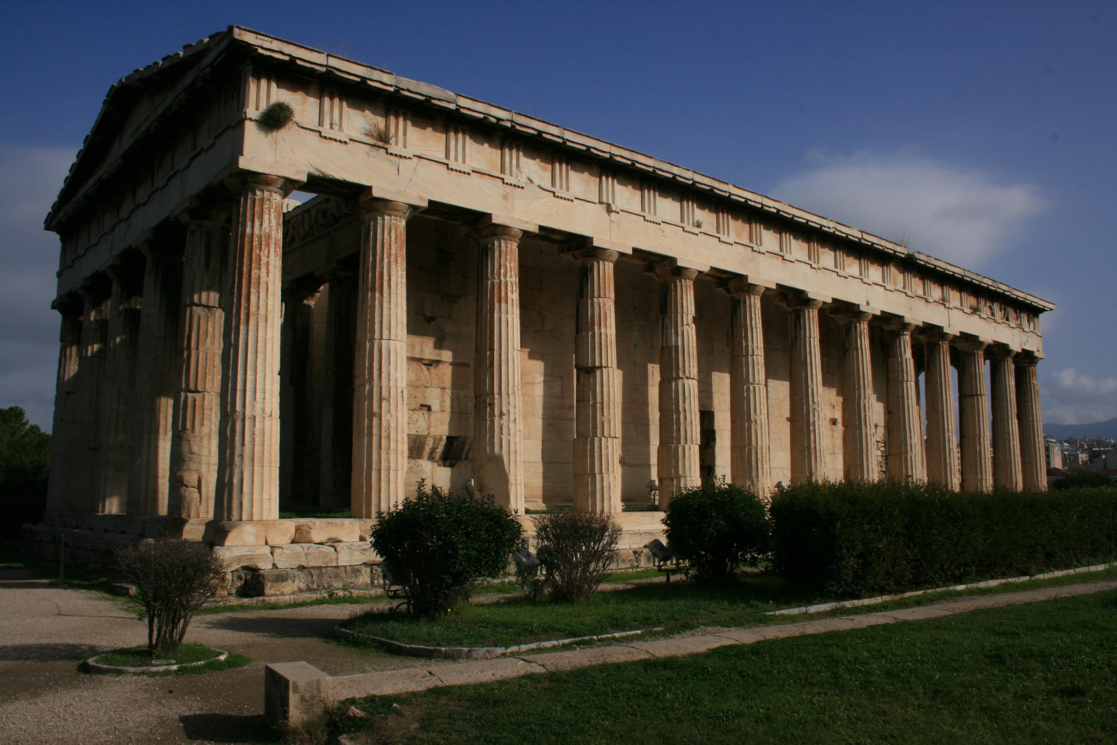 theseion temple de l'agora d'athenes grece