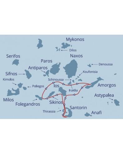 Croisière en voilier îles grecques de Santorin 8 jrs 7 nts