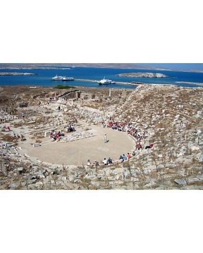 visite de Delos au départ du port de Mykonos