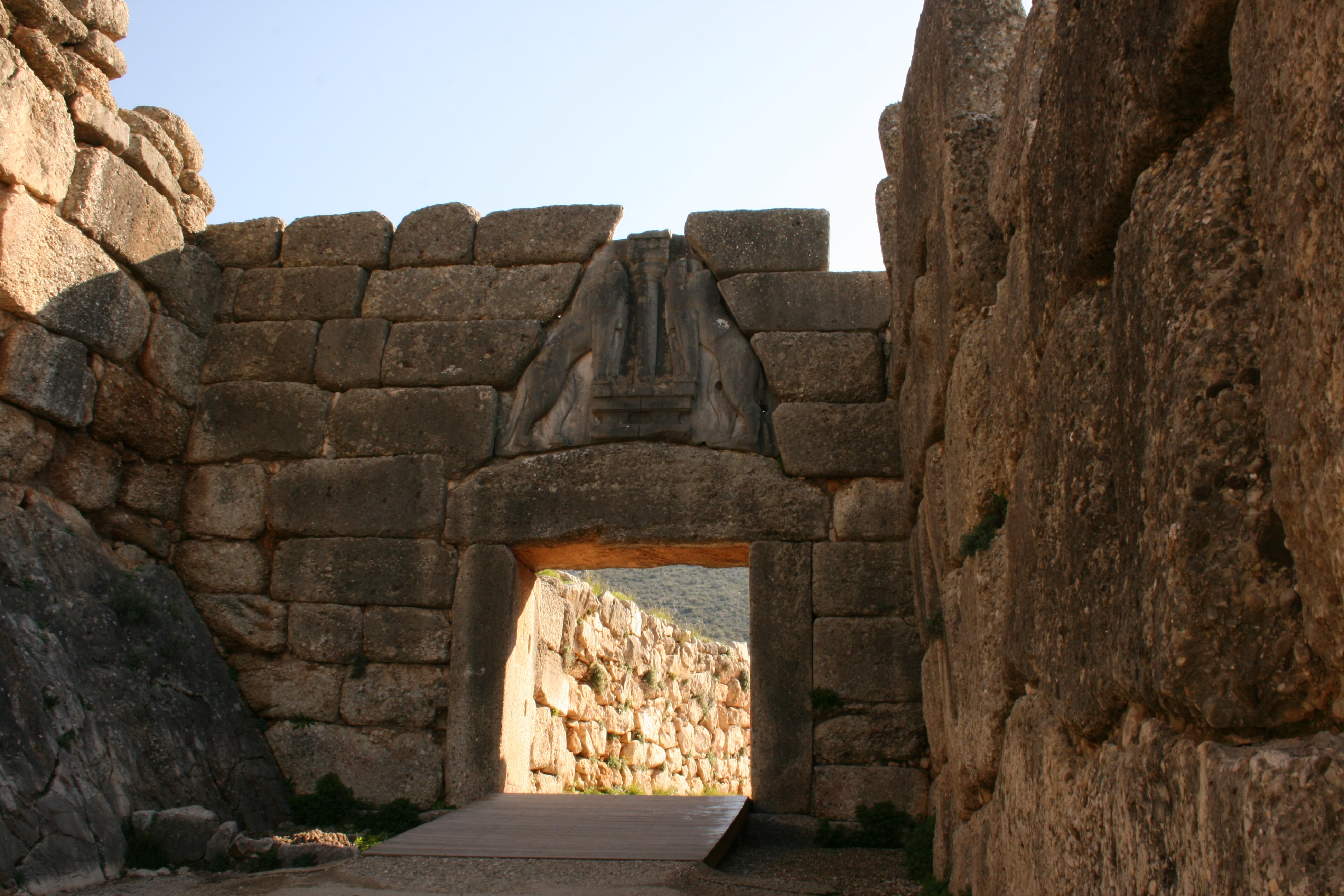 mycenes porte des lionnes argolide Grece